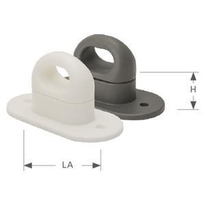 Ovalöse 42x22 mm weiß 10 x Drehverschluss Kunststoff f
